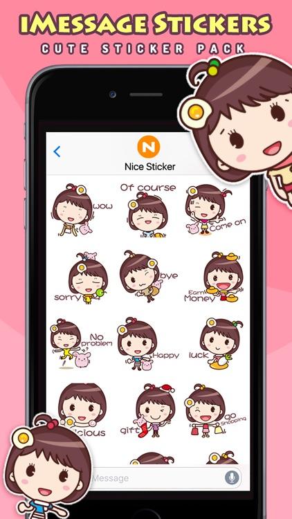 Yolk Girl Pro - Cute Stickers by NICE Sticker screenshot-3