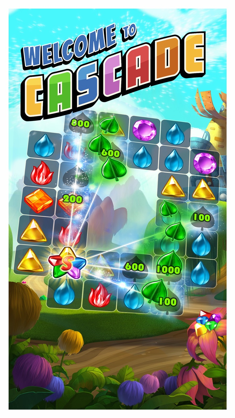 Cascade free spin and match puzzle game by big fish for Cascade big fish game