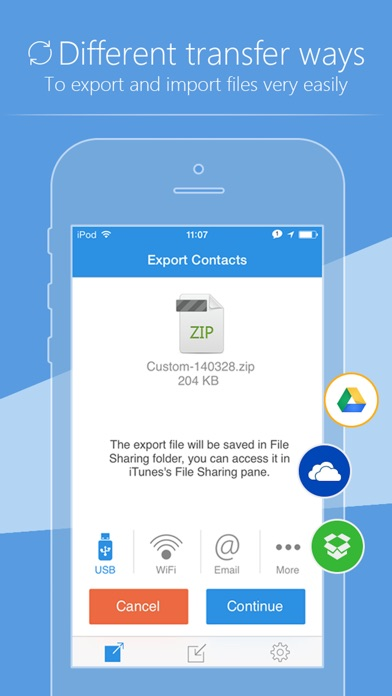 SA Contacts Screenshots