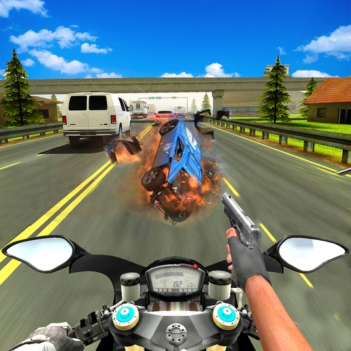 Heavy Bike Shooter 3D  : Real Fight During Race-r