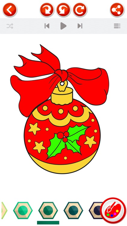 Christmas Coloring Book  - Xmas Pictures to Color screenshot-4