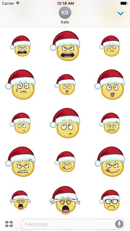 Merry Christmas Emojis - Christmas Stickers screenshot-4