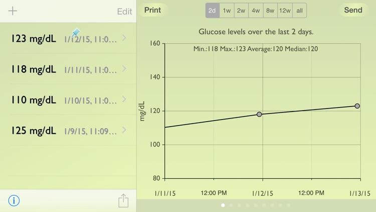 Glucose Recorder screenshot-4
