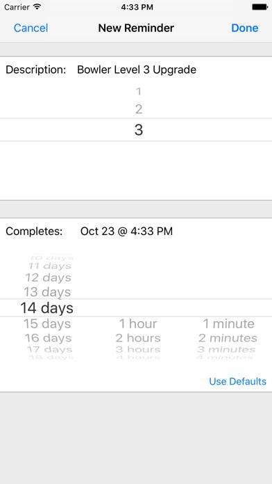 Clash Reminders screenshot two