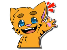Cute Tiger Sticker