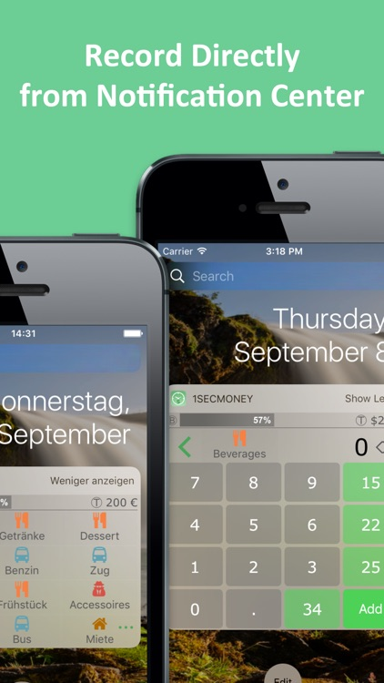 1SecMoney - record expenses directly from Widget screenshot-0