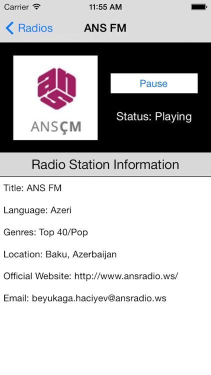 Azerbaijan Radio Live Player (Azərbaycan radio) screenshot-4