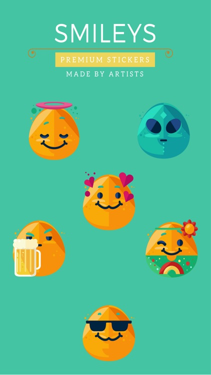 Smiley Stickers - Cute and chubby
