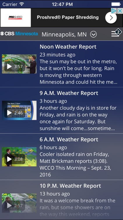 CBS Minnesota Weather screenshot-4