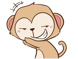 Cheaky Monkey Sticker