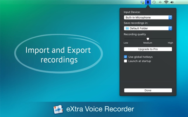 eXtra Voice Recorder Lite - Record, Organize, Note on the