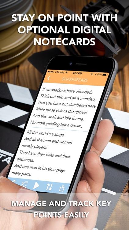 PromptSmart Lite - The Smartest Teleprompter (ENG) screenshot-4