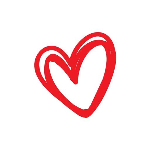Heart Stickers - Hand Drawn