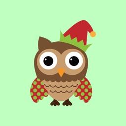 Christmas Owl Stickers