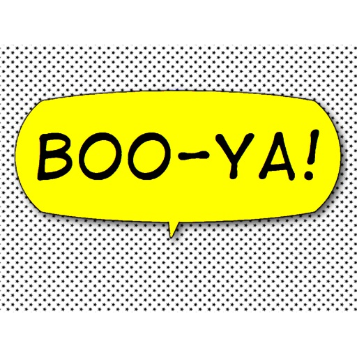 Boo-Ya! Comic Interjection Bubbles