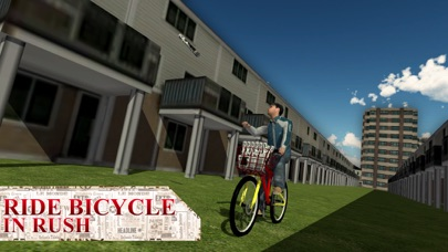 Newspaper Delivery Boy & bike ride game screenshot one