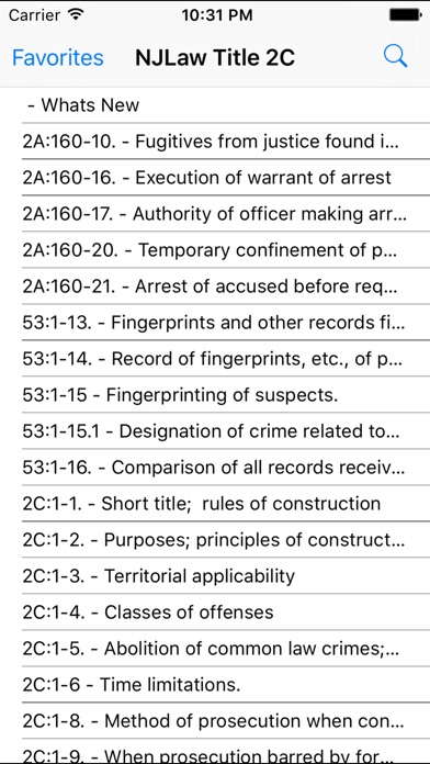 Screenshot for NJLaw - Title 2C - Criminal Law in United States App Store