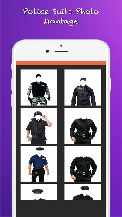 Police Suits Photo Montage