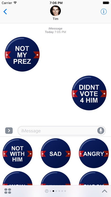 Not My PREZ - Trump Block & Boycott Stickers