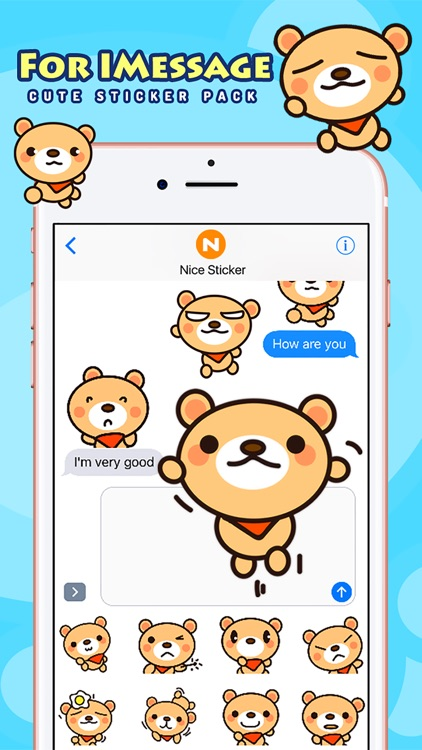 Fly Bear Pro - Cute Stickers by NICE Sticker screenshot-2