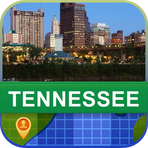 Offline Tennessee, USA Map - World Offline Maps
