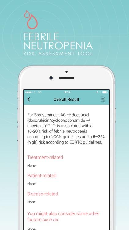 Febrile Neutropenia Risk Tool screenshot-3
