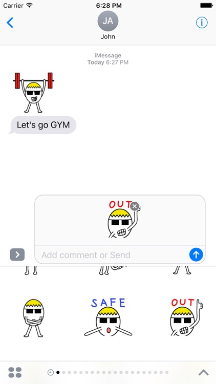 Funny Egg Stickers Pack for iMessage
