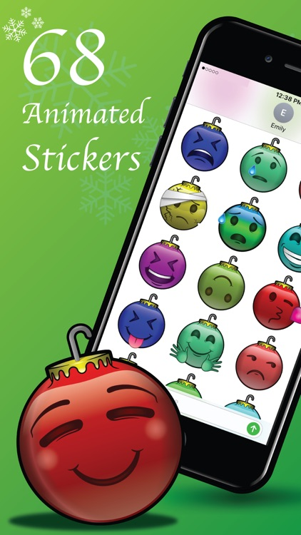 137 Christmas Emoji Ornament Stickers screenshot-0