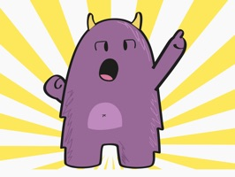 Purple Derp – Monster Stickers for iMessage