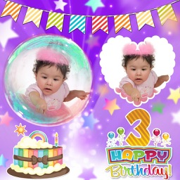 Birthday Photo Collage and Stickers