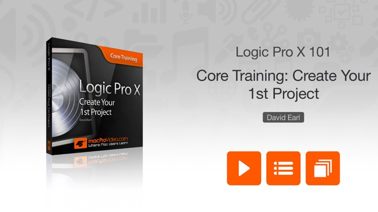 Course for Logic Pro X - Create Your First Project