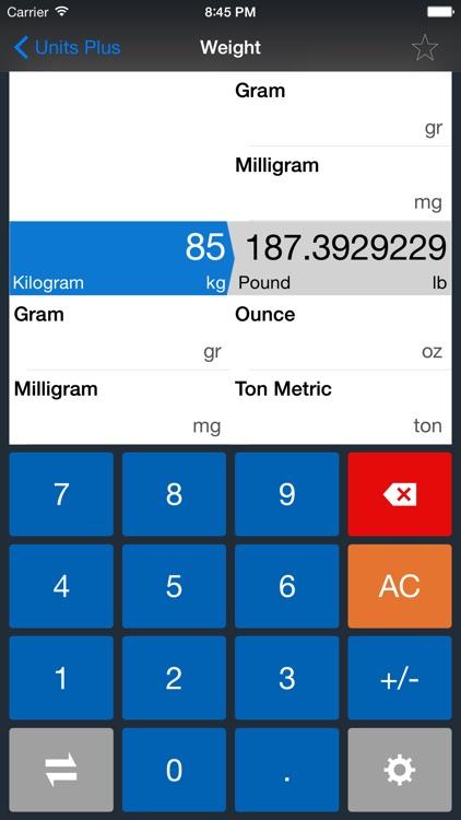 Units Plus Converter - Convert Any Unit & Currency screenshot-3