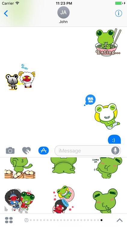 Frog Cute - Fc Sticker screenshot-3