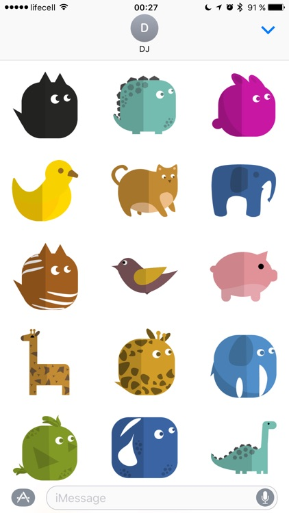 Simple Animal Stickers screenshot-3