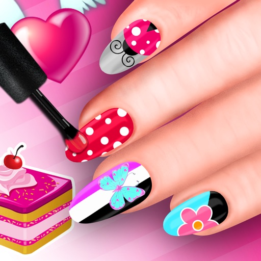Nails Designer Nail Salon With Stickers Polish By Bozidar Ristic
