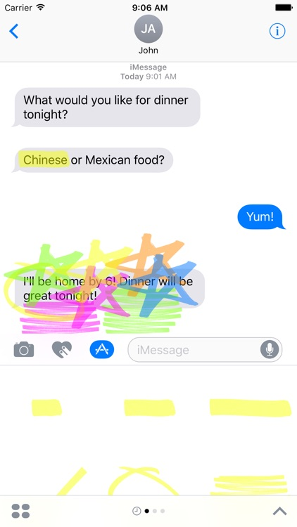 Highlighter for iMessage