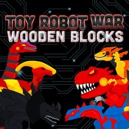 Toy Robot War Wooden Blocks