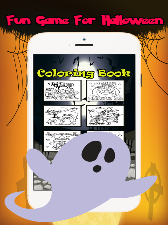 Halloween Coloring Book:Color Games For Adult Kids | App ...