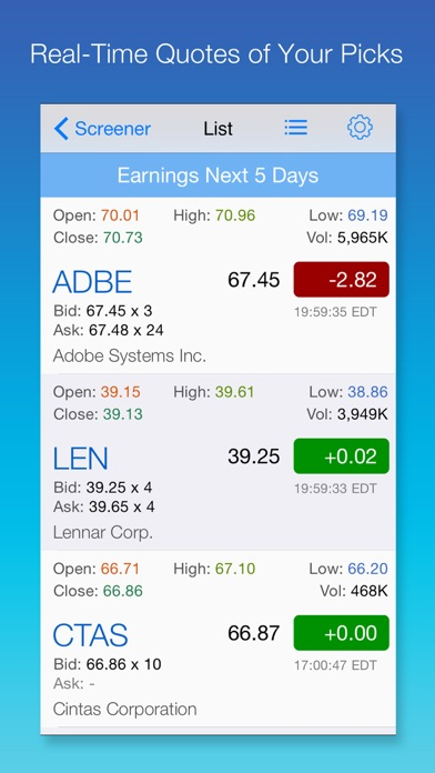 Stock Screener: Stocks Finder with Easy Filters - AppRecs