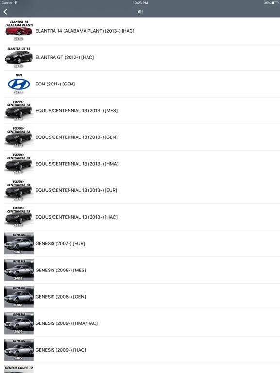 Hyundai Car Parts - ETK Parts Diagrams ipad ekran görüntüleri