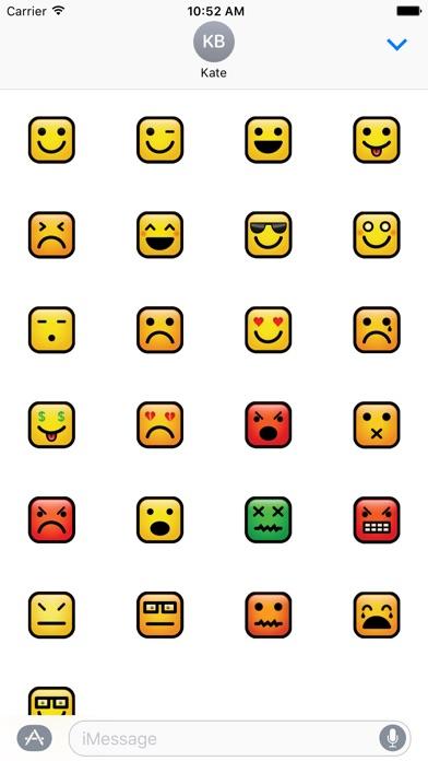 Square Emoji Stickers 2