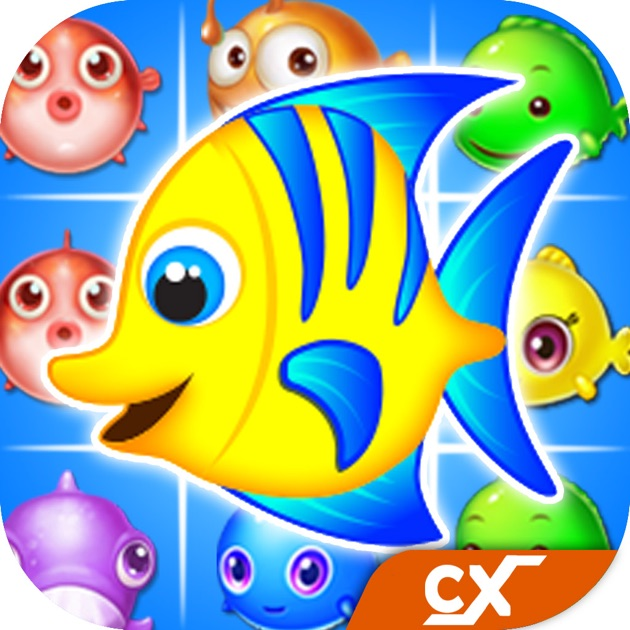 Fish blast best ocean crush match 3 mania game on the for Best fishing game app