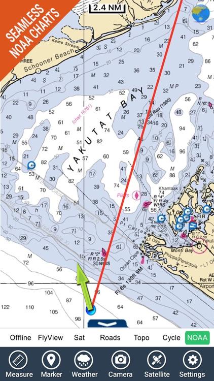 Marine : Alaska South East HD GPS Map Navigator
