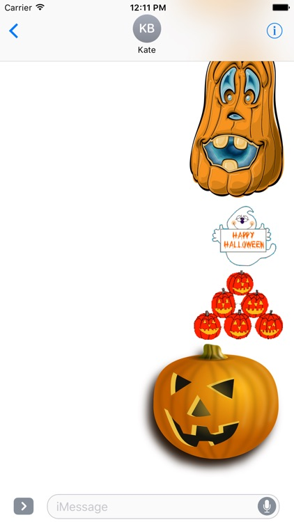 Halloween Animated stickers for iMessage screenshot-3