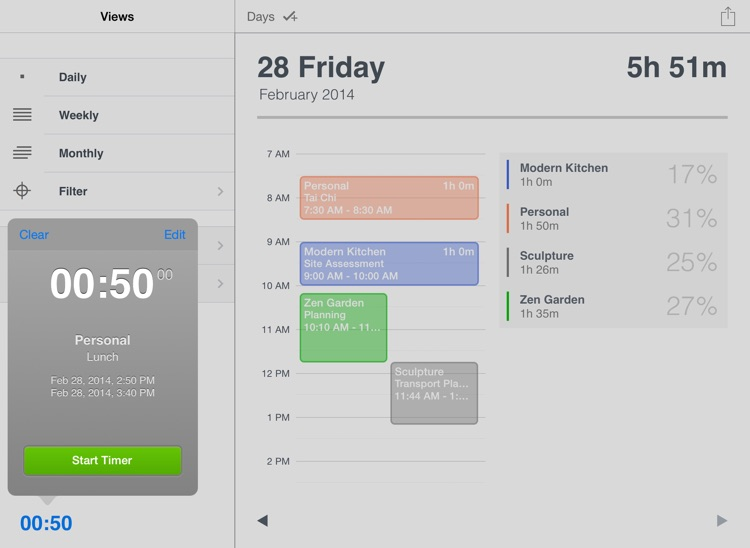 ClockedIn 2 for iPad