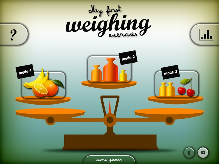 My first weighing exercises HD