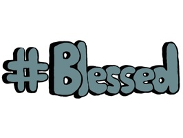 #Blessed - Cool Words, Phrases & Slang Stickers