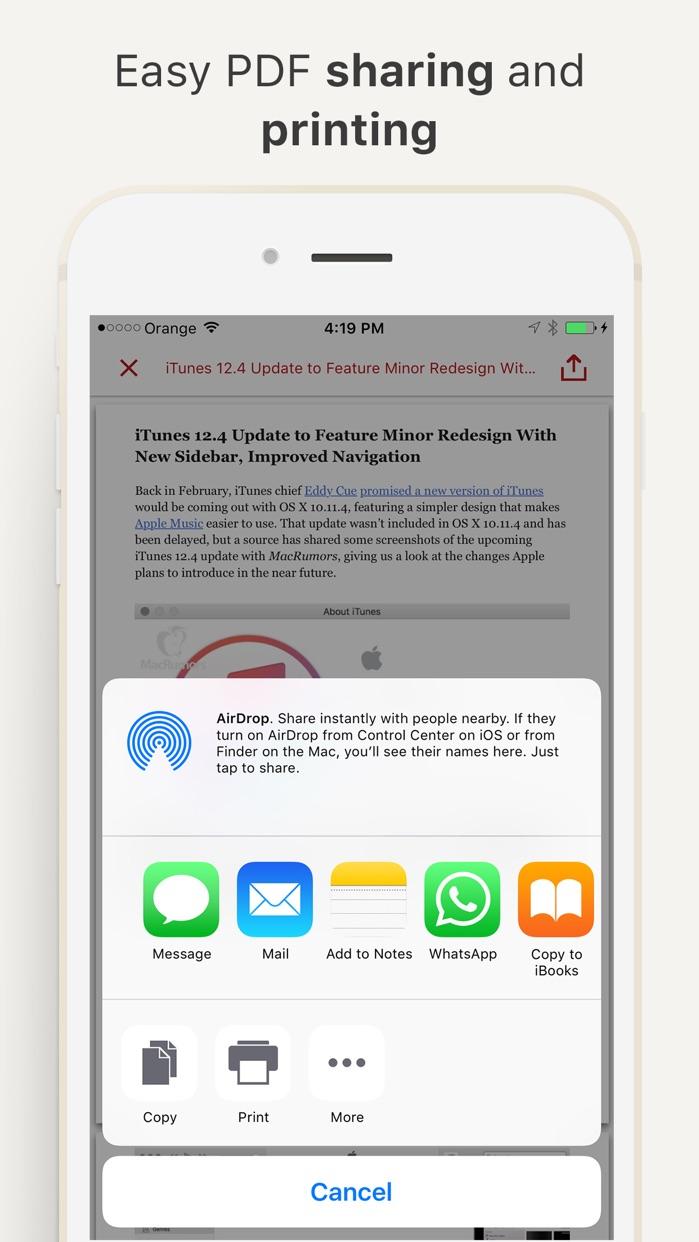 InstaWeb: Web to PDF Converter, Article Reader Screenshot