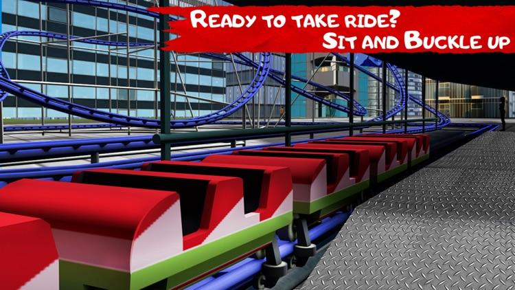 VR City Roller Coaster Free screenshot-3