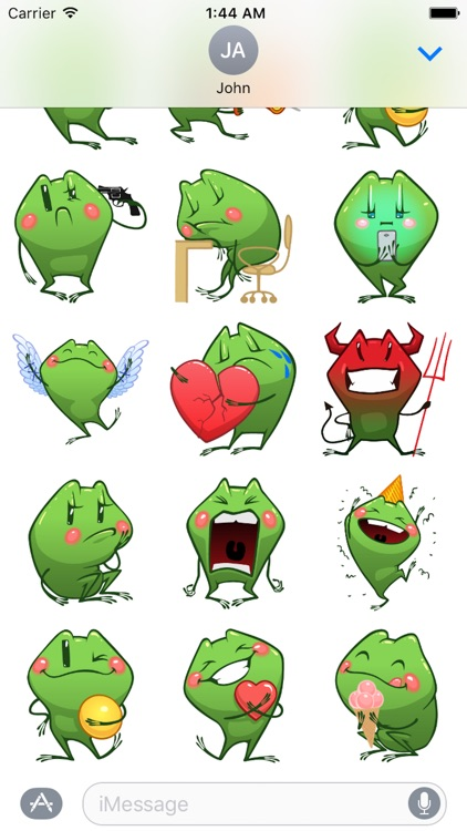 Frog Emotion Cute Sticker screenshot-3